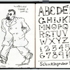 January 2007. Schicklegruber Typeface for Steve Heller