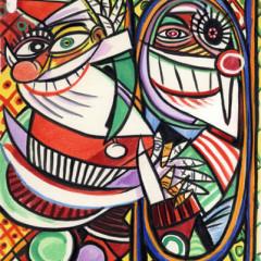 """Pablo Picasso: """"Santa Cubed"""""""