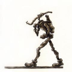"Alberto Giacometti: ""Walking Santa 1"""