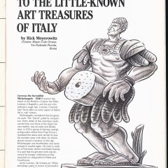 A Guide to the Little Known Art Treasures of Italy