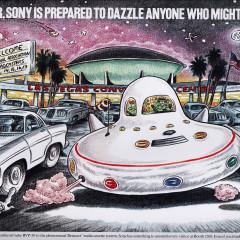 Sony UFO Trade Ad.