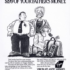 Virgin Airlines: Dad's Money.