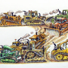 """March of the Bulldozers: The bulldozers sing this song as they go: """"A bulldozer bulls, and a bulldozer dozes. So get out of our way, we don't smell like roses..."""""""