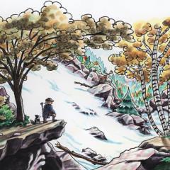 """""""Soon he was trekking upward in the sunlit mountains."""""""